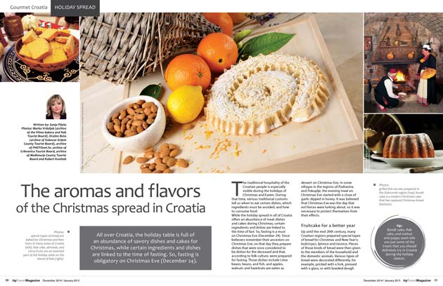 Gourmet Croatia, Holiday spread